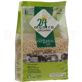 24 Mantra Organic Dal Urad White (Whole) (500 gm)