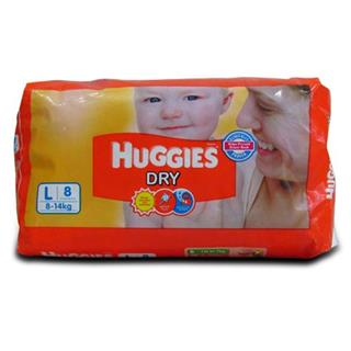 Huggies Dry Large (Upto 8-14Kg) (8 no.)
