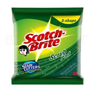 Scotch Brite Scrub Pad S Shape (7.5*10 CM)