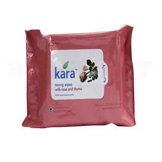 Kara Toning Wipes Rose & Thyme (25 pcs)