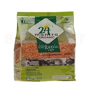 24 Mantra Organic Dal Masoor (500 gm)