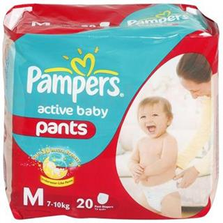 Pampers Active Baby Diapers M. (20 pcs)