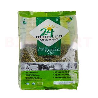 24 Mantra Organic Dal Green Moong (500 gm)