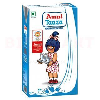 Amul Taaza Uht Milk (1 ltr)