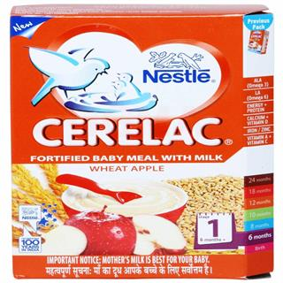 Nestle Cerelac Wheat Apple (Stage 1) (300 gm)