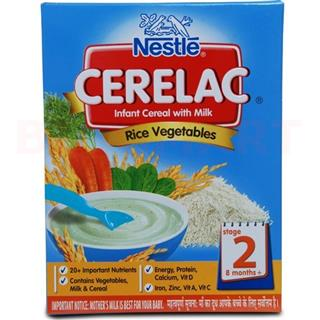 Nestle Cerelac Rice Vegetables (Stage 2) (300 gm)