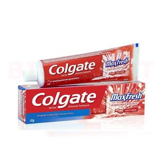 Colgate Toothpaste Max Fresh Cooling Crystals Red Gel (Spicy Fresh) (150 gm)