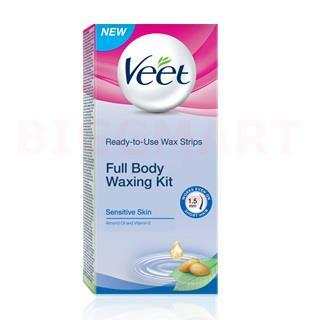 Veet Full Body Waxing Kit Sensitive Skin (20 pcs)