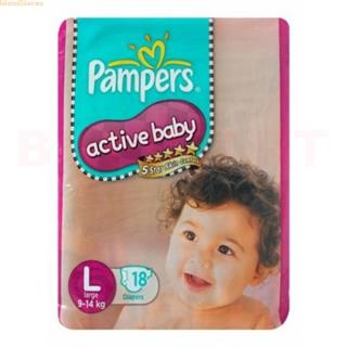 Pampers Active Baby Diapers L (18 pcs)