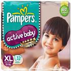 Pampers Active Baby Diapers XL (32 pcs)