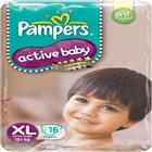 Pampers Active Baby Diapers XL. (16 pcs)