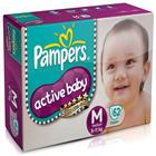 Pampers Active Baby Diapers M (62 pcs)
