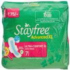 Stayfree Advanced XL 7 Pads Ultra Comfort Wings (7 Pads)