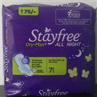 Stayfree Dry Max All Night XL Wings 7 Pads (7 Pads)