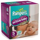 Pampers Active Baby Diapers S (22 pcs)